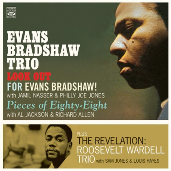 Evans Bradshaw Trio + Roosevelt Wardell Trio (3 LPs on 2 CD)