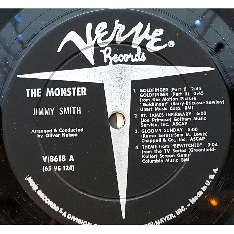 Jimmy Smith Monster Vinyl Blue Sounds