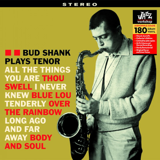 Bud Shank Plays Tenor (Audiophile 180gr. Hq Vinyl)